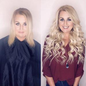 Before and After Hair Extension